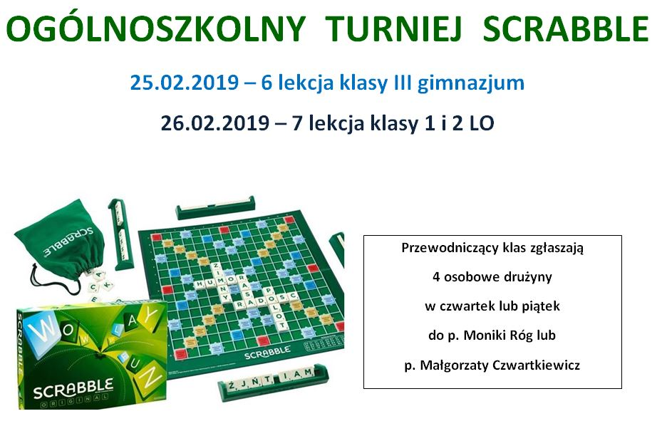 Turniej Scrabble – eliminacje