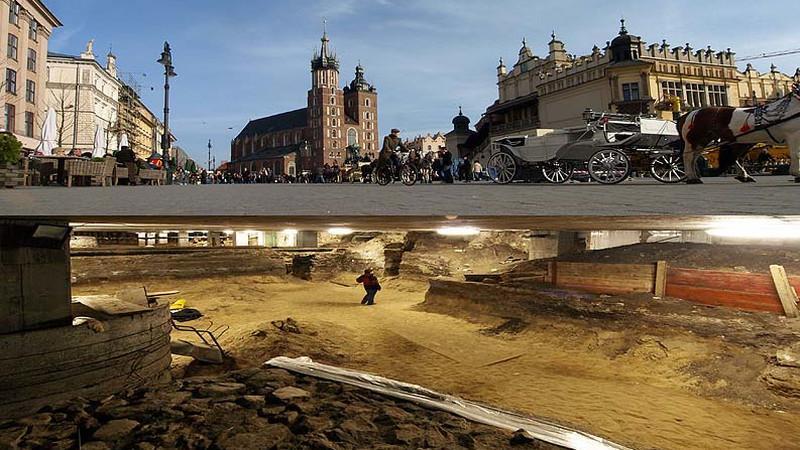 Wizyta w podziemiach Krakowa